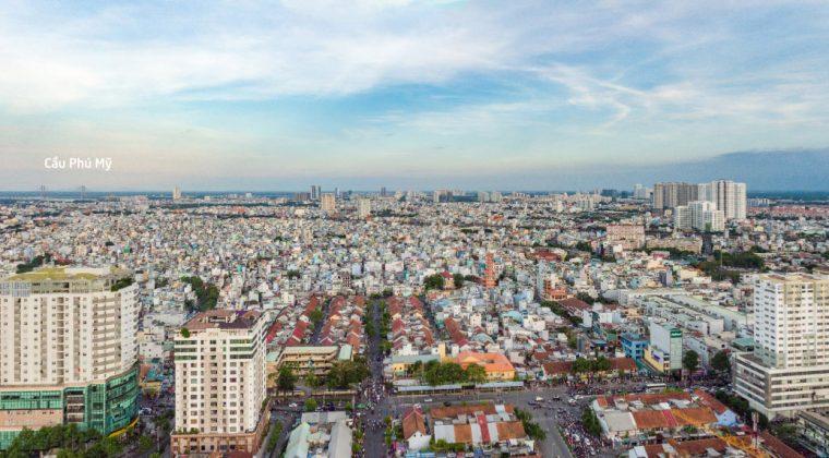 Góc nhìn hướng Nam từ dự án Masteri Millennium quận 4.