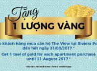 Sự kiện Mùa Hè Sôi Động tại The View: tặng 1 lượng vàng và chiết khấu 3% giá bán.
