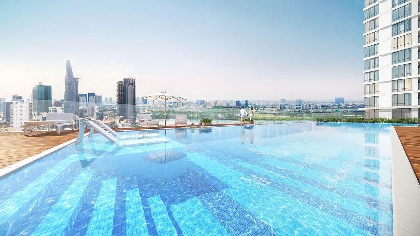 Phối cảnh hồ bơi tại dự án Millennium q4.