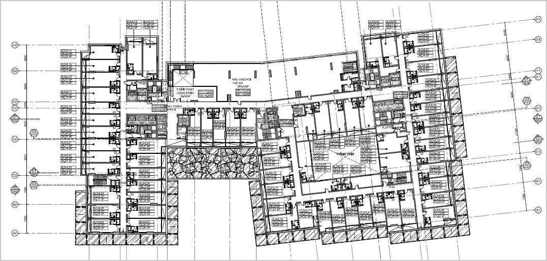 Mặt bằng căn hộ officetel Millennium quận 4.