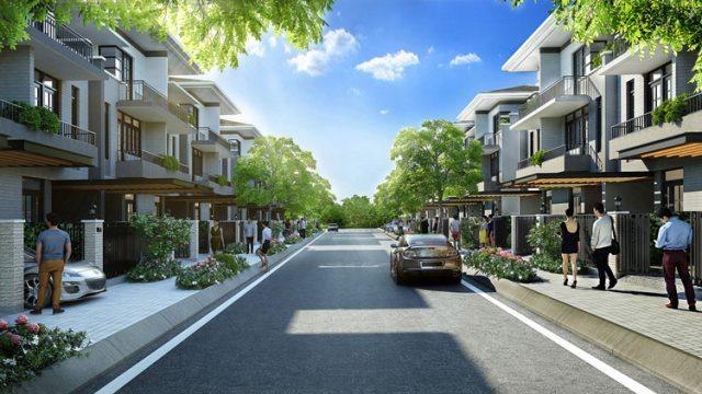 Phối cảnh đường nội khu dự án Lavila Kiến Á tại Nam Sài Gòn.
