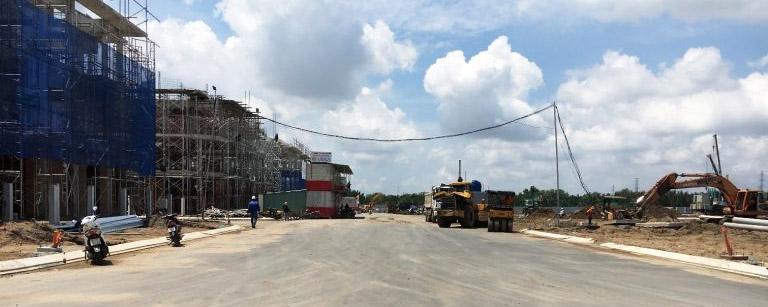 Công tác thi công tại dự án Lavila tháng 9/2017.