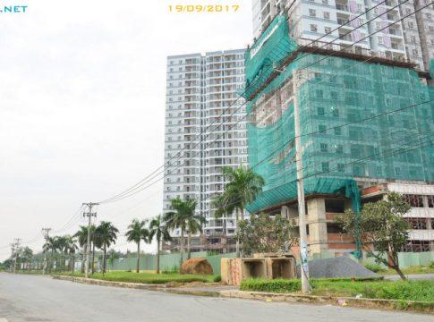 Dự án căn hộ Jamona Apartment đường Đào Trí, Phú Thuận, Quận 7, TP.HCM. Ảnh 19/09/2017.
