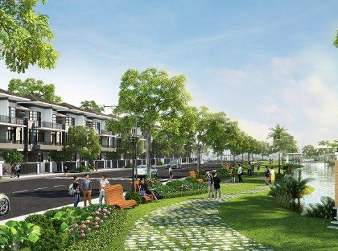 Dự án Lavila chú trọng đầu tư vào mảng xanh, công viên hồ cản quan đem lại môi trường sống trong lành cho cư dân.