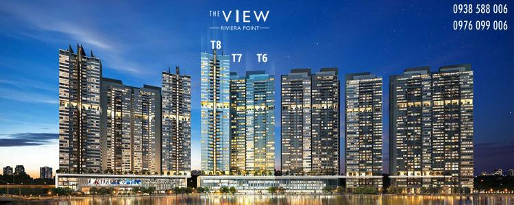 Phối cảnh tổng thể dự án căn hộ The View tại Riviera Point quận 7.