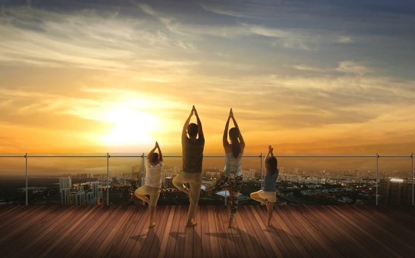 Vườn trên cao tại The View, môi trường sống trong lành sẽ đảm bảo sức khỏe - gia tăng tuổi thọ.