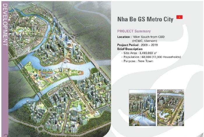 Phối cảnh tổng thể dự án GS Metrocity Nhà Bè.