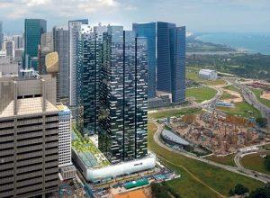 Tổng thể 2 tháp: 1 và 2 tại Asia Square - Singapore. Ảnh: Architect61.
