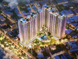 Phối cảnh tổng thể dự án căn hộ Charmington Iris 76 Tôn Thất Thuyết, phường 16, quận 4, TP.HCM - phát triển bởi Sacomreal.