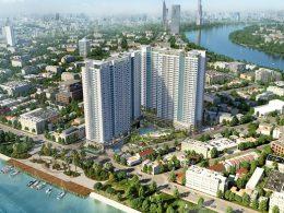 Phối cảnh tổng thể dự án căn hộ charmington Iris quận 4 - phát triển bởi Sacomreal.