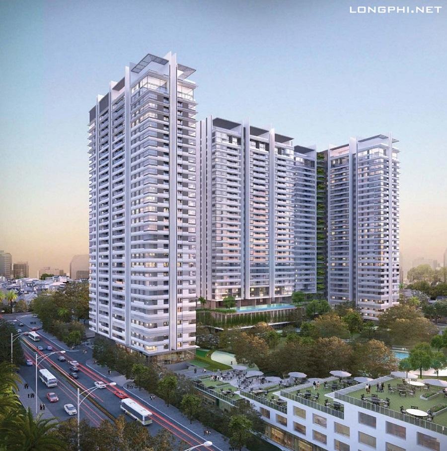 Phối cảnh tổng thể dự án căn hộ Kingdom 101 quận 10 tại đường Tô Hiến Thành.