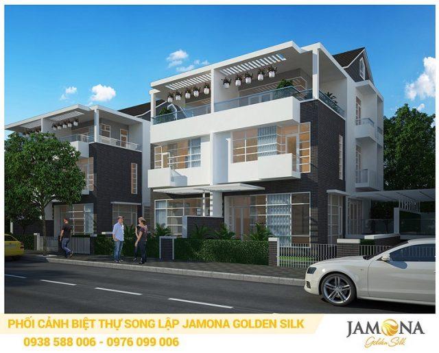 Phối cảnh biệt thự song lập Jamona Golden Silk quận 7.