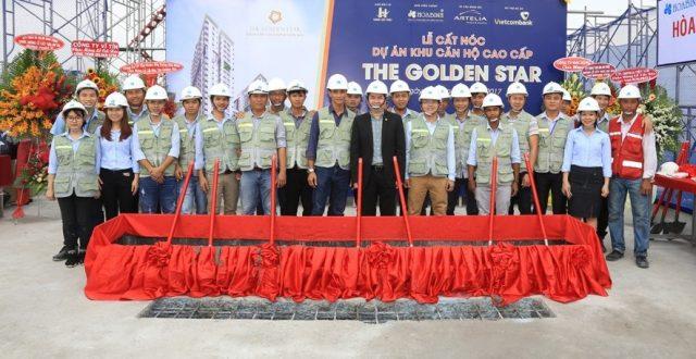 Dự án The Golden Star quận 7 của Hưng Lộc Phát đã hoàn thành cất nóc 3 tháng vượt tiến độ.