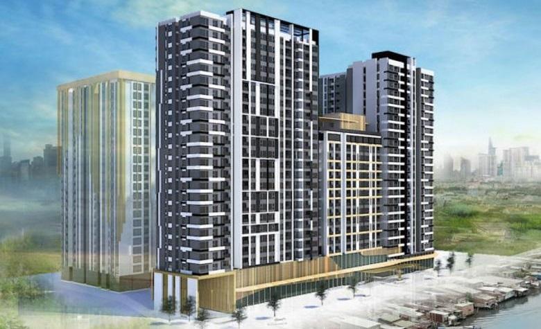 Phối cảnh dự án căn hộ Capitaland vừa mua tại Quận 4 với giá 38 triệu USD.