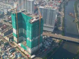 Dự án căn hộ Millennium quận 4 đã cất nóc thành công.