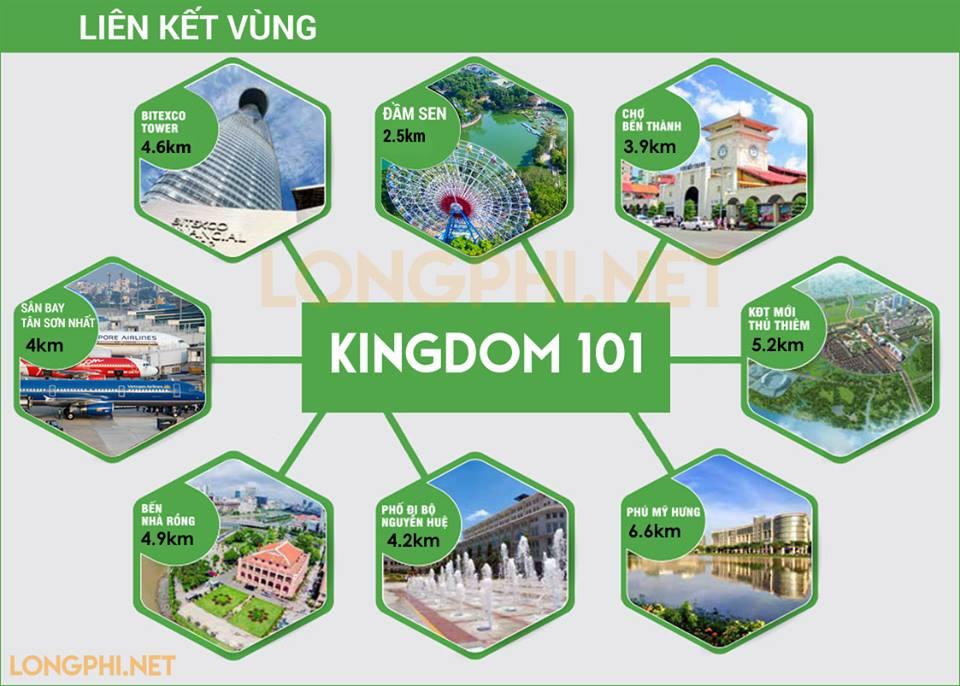 Liên kết vùng, tiện ích ngoại khu căn hộ Kingdom 101 quận 10.