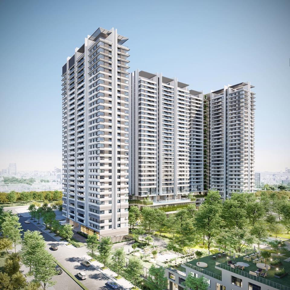Phối cảnh tổng thể của dự án khu căn hộ Kingdom 101 Tô Hiến Thành.