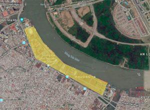 Vị trí dự án khu đô thị Nhà Rồng Khánh Hội tại quận 4, TP.HCM.