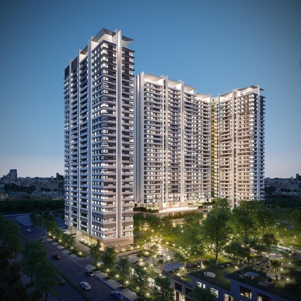Phối cảnh tổng thể dự án khu căn hộ Kingdom 101 Tô Hiến Thành.