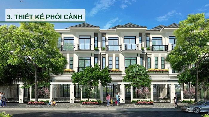 Phối cảnh thiết kế biệt thự Hưng Phát Green Star quận 7 của Hưng Lộc Phát.