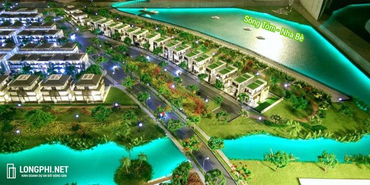 Phối cảnh vị trí dự án biệt thự đơn lập Lavila Nhà Bè giai đoạn 3 (Lavila De Rio) của Kiến Á.