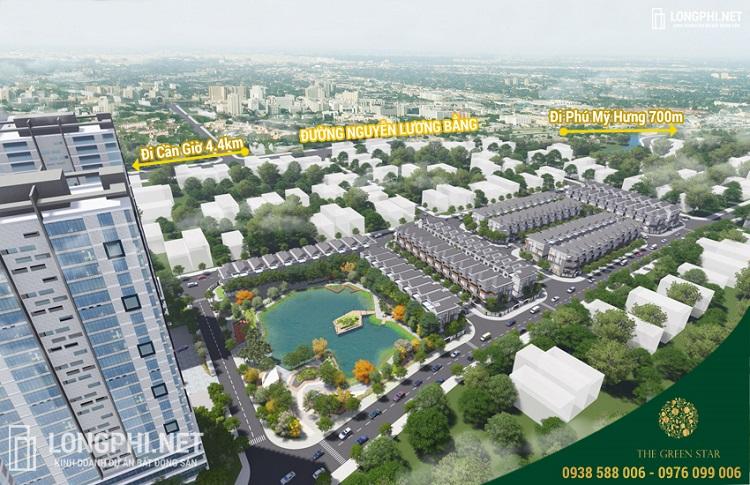 Phối cảnh tổng thể dự án Green Star quận 7 của chủ đầu tư Hưng Lộc Phát.