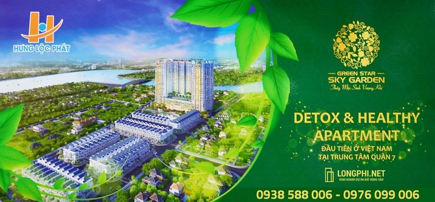 Ra mắt dự án căn hộ Green Star Sky Garden quận 7, với tiện ích Detox & Healthy của chủ đầu tư Hưng Lộc Phát.