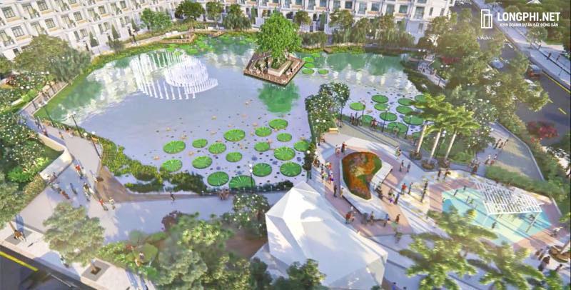 Căn hộ Green Star Sky Garden có một trong những điểm nhấn là tiện ích hồ cảnh quan nội khu dự án.