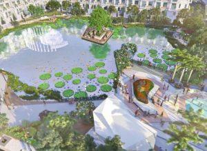 Căn hộ Green Star Sky Garden quận 7 có một trong những điểm nhấn là tiện ích hồ cảnh quan nội khu dự án.