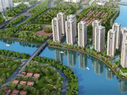 Phối cảnh tổng thể dự án căn hộ Gem Riverside quận 2 - Đất Xanh.