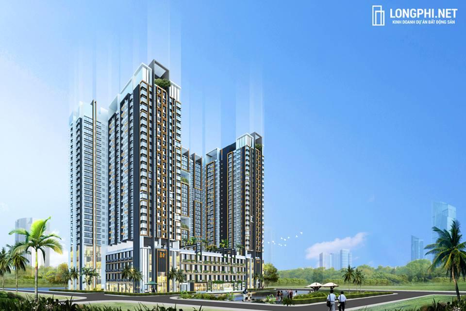 Phối cảnh tổng thể dự án căn hộ Green Star Sky Garden quận 7 - Hưng Lộc Phát.