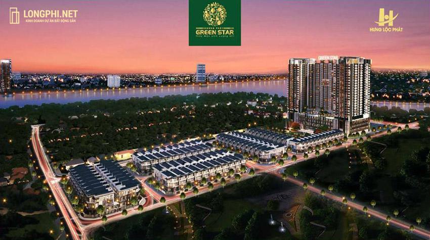 Phối cảnh tổng thể căn hộ Green Star Sky Garden quận 7 trong dự án Green Star quận 7 của Hưng Lộc Phát.