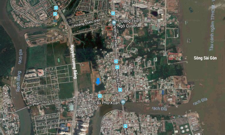 Vị trí dự án căn hộ Green Star Sky Garden quận 7 - Hưng Lộc Phát.