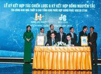 Đại diện của Hòa Bình và Hưng Lộc Phát ký kết thỏa thuận hợp tác chiến lược lâu dài.