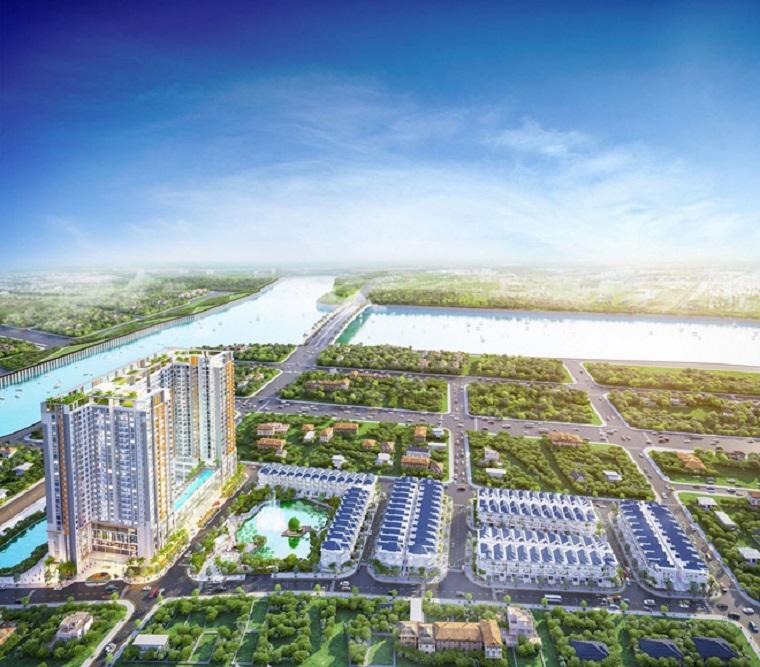 Phối cảnh tổng thể dự án Green Star Sky Garden đường Nguyễn Lương Bằng, Q7.