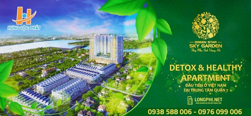 Phối cảnh tổng thể căn hộ Detox & Healthy mang tên Green Star Sky Garden của Hưng Lộc Phát.