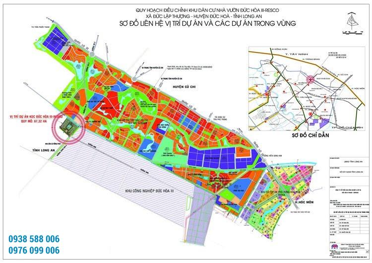 Bản đồ kết nối dự án Đức Hòa 3 Resco (Daresco Residence).