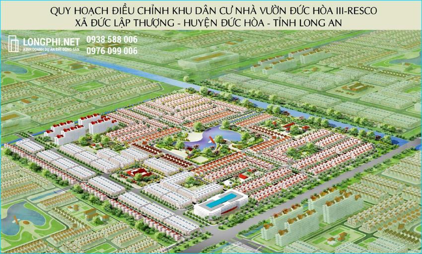 Phối cảnh tổng thể khu dân cư Đức Hòa 3 Resco (Daresco Residence)