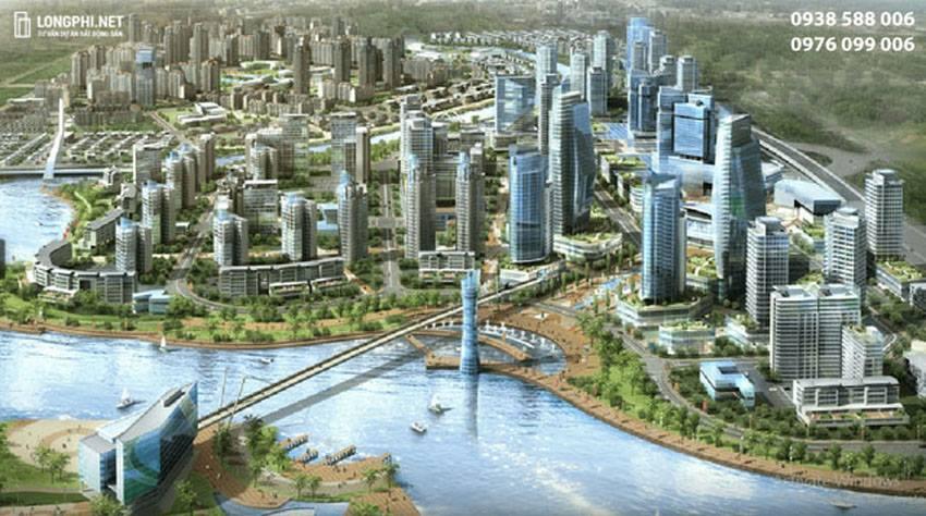 Một góc phối cảnh trong dự án GS Metrocity (G City) tại Nhà Bè.