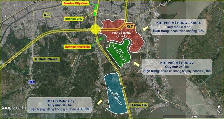 Vị trí dự án GS Metrocity (G City) Nhà Bè trên bản đồ.