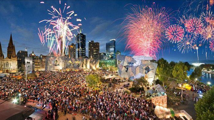 Thành phố Melbourne tại Úc.