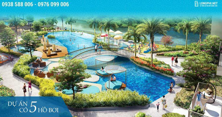 The View là dự án khu căn hộ có 5 hồ bơi nước mặn mang âm hưởng khu nghỉ dưỡng độc đáo.