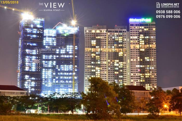 Căn hộ The View đang trong quá trình xây dựng, sẽ bàn giao nhà trong nă 2019, nhà thầu Hòa Bình (HOSE:HBC).