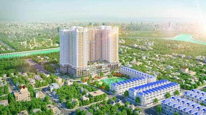 Phối cảnh dự án Green Star Sky Garden quận 7 của Hưng Lộc Phát.