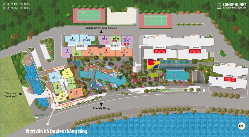 Mặt bằng tổng thể giai đoạn dự án căn hộ The View tại Riviera Point.