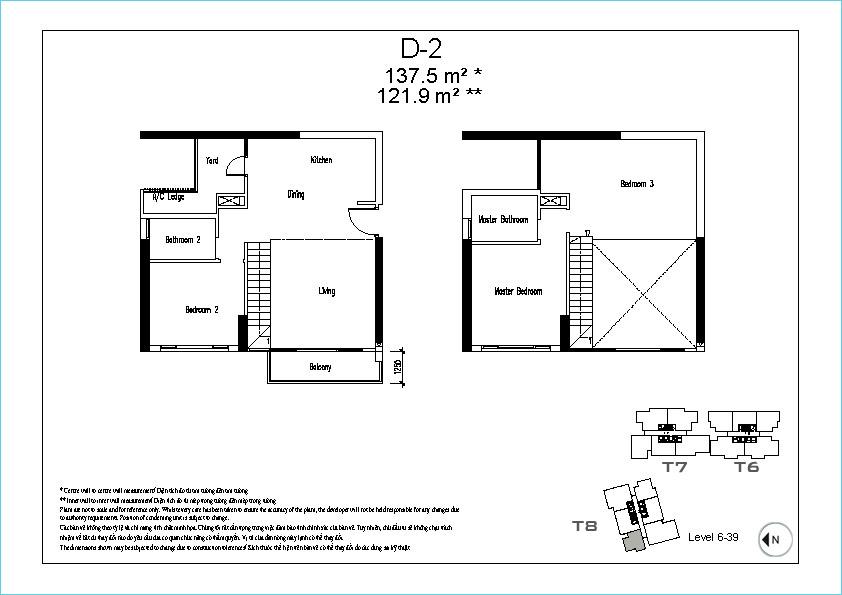 Mặt bằng căn hộ duplex tháp 8 The View tại Riviera Point, dự án căn hộ cao cấp quận 7.
