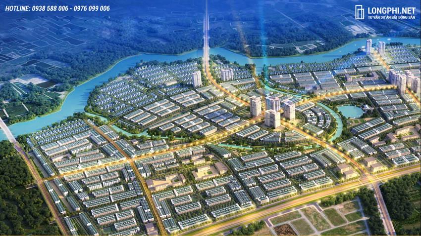 Phối cảnh tổng thể dự án T&T Millennia City Long Hậu.