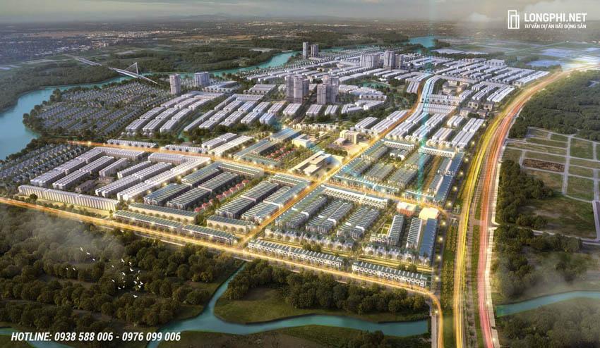 Phối cảnh tổng thể dự án T&T Millennia City Long An.