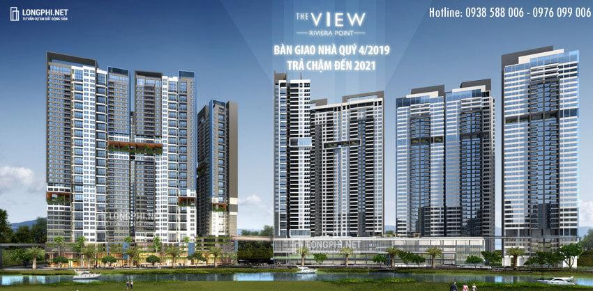 Phối cảnh tổng thể căn hộ the View tại Riviera Point, bàn giao nhà cuối năm 2019 (quý 4) chủ đầu tư Keppel Land.