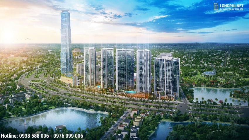 Phối cảnh tổng thể dự án Eco-Green Sài Gòn quận 7.